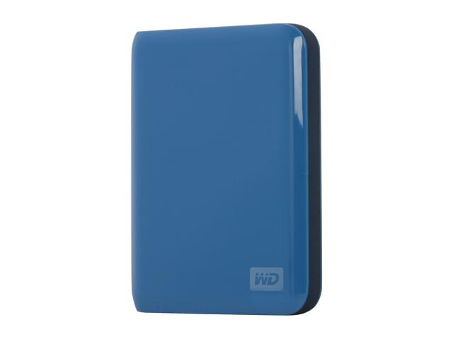 "WD My Passport Essential 500GB USB 2.0 2.5"" Portable External Hard Drive Pacific Blue"