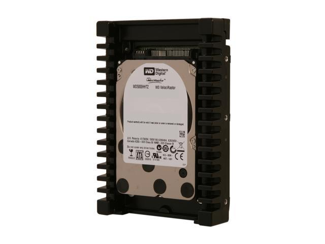 "Western Digital WD VelociRaptor WD5000HHTZ 500GB 10000 RPM 64MB Cache SATA 6.0Gb/s 3.5"" Internal Hard Drive Bare Drive - OEM"