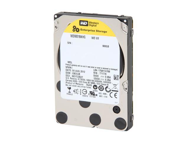 "Western Digital XE WD9001BKHG 900GB 10000 RPM 32MB Cache SAS 6Gb/s 2.5"" Internal Enterprise Hard Drive Bare Drive"