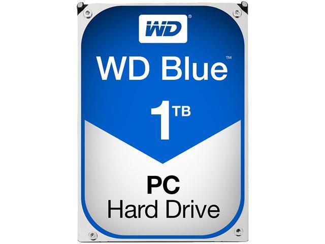 WD Blue 1TB Desktop Hard Disk Drive - 7200 RPM SATA 6Gb/s 64MB Cache 3.5 Inch - WD10EZEX