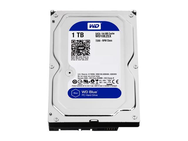 Unidad de disco duro de escritorio WD Blue de 1TB - 7200 RPM SATA de 6 Gb / s 64MB de caché de 3,5 pulgadas - WD10EZEX