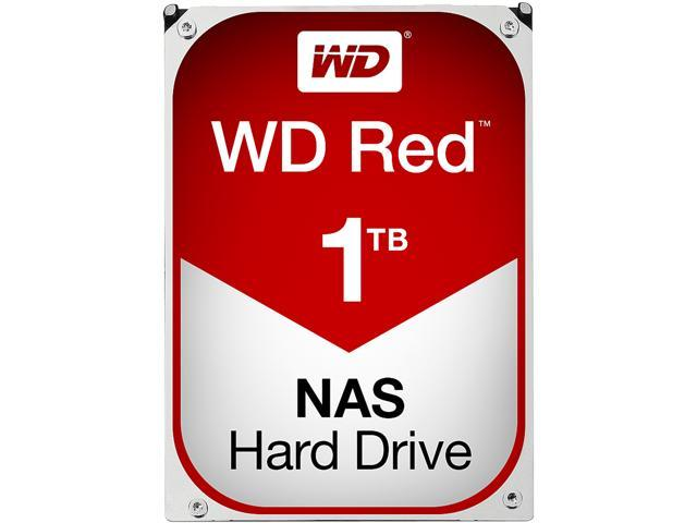 Western Digital Red NAS Hard Drive 1TB IntelliPower 64MB Cache SATA 6.0Gb/s 3.5 Image