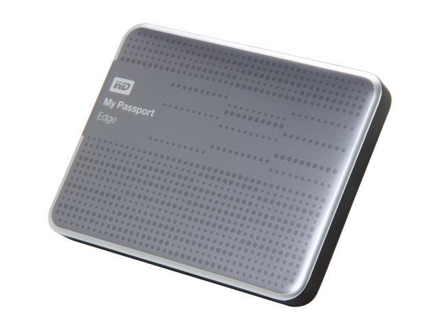 WD 500GB My Passport Edge Portable Hard Drive USB 3.0 Model WDBK6Z5000ATT-NESN Black