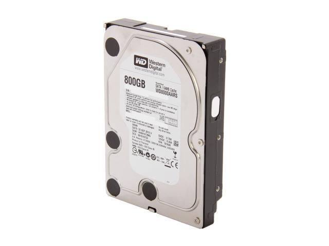 "WD WD8000AARS-FR 800GB 5400 RPM 64MB Cache SATA 3.0Gb/s 3.5"" Internal Hard Drive Bare Drive"