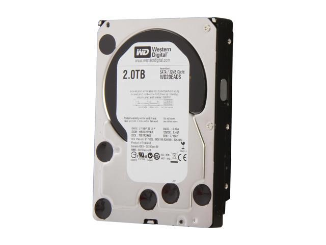 "WD WD Green WD20EADS-FR 2TB 32MB Cache SATA 3.0Gb/s 3.5"" Internal Hard Drive Bare Drive"