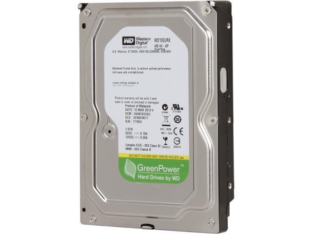 "Western Digital AV-GP WD10EURX 1TB IntelliPower 64MB Cache SATA 6.0Gb/s 3.5"" Internal Hard Drive -Manufacture Recertified ..."