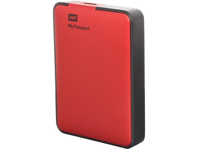 WD 2TB My Passport Essential External Hard Drive USB 3.0 Model WDBY8L0020BRD-NESN Red