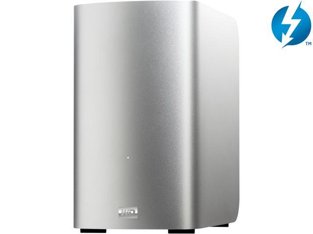 WD My Book Thunderbolt Duo 4TB External Dual Hard Drive Storage System with Thunderbolt cable