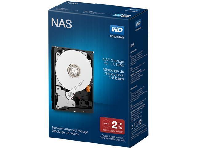 """WD Desktop Networking WDBMMA0020HNC-NRSN 2TB 5400 RPM 64MB Cache SATA 6.0Gb/s 3.5"""" Network NAS Hard Drive Retail Kit"""