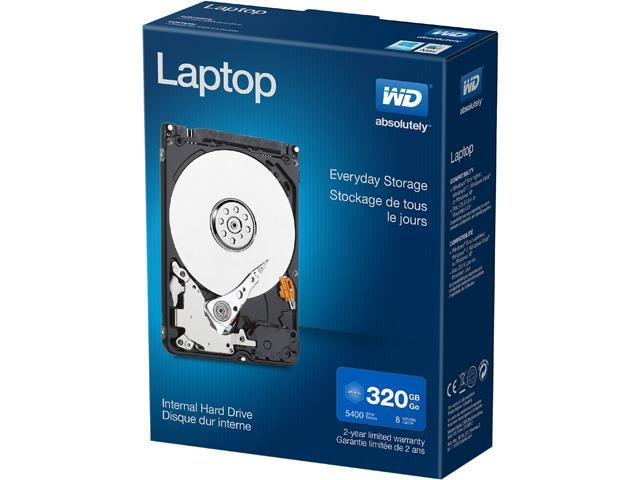 "WD Laptop Mainstream WDBMYH3200ANC-NRSN 320GB 5400 RPM 8MB Cache SATA 3.0Gb/s 2.5"" Laptop Mainstream Hard Drive Retail Kit"