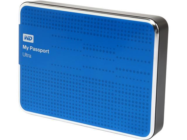 WD 2TB My Passport Ultra Portable Hard Drive USB 3.0 Model WDBMWV0020BBL-NESN Blue