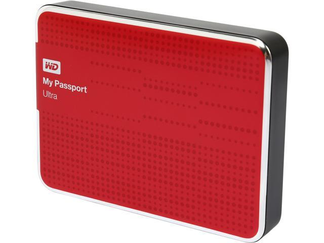 WD 2TB My Passport Ultra Portable Hard Drive USB 3.0 Model WDBMWV0020BRD-NESN Red