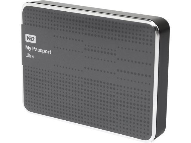 WD 2TB My Passport Ultra Portable Hard Drive USB 3.0 Model WDBMWV0020BTT-NESN Titanium
