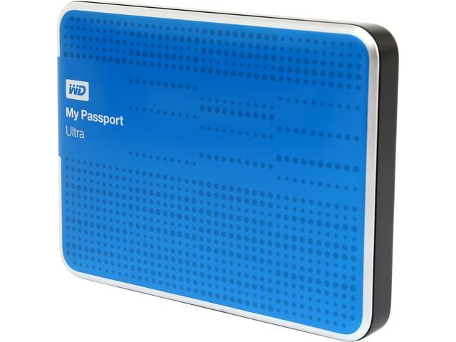 WD 500GB My Passport Ultra Portable Hard Drive USB 3.0 Model WDBPGC5000ABL-NESN Blue
