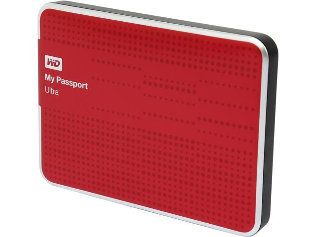 WD 500GB My Passport Ultra Portable Hard Drive USB 3.0 Model WDBPGC5000ARD-NESN Red