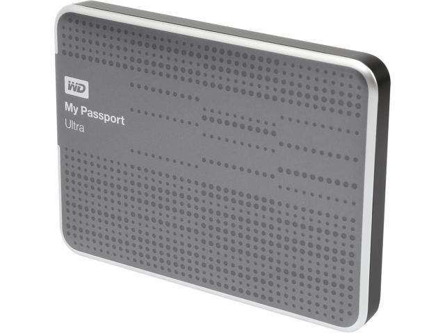 WD 500GB My Passport Ultra Portable Hard Drive USB 3.0 Model WDBPGC5000ATT-NESN Titanium