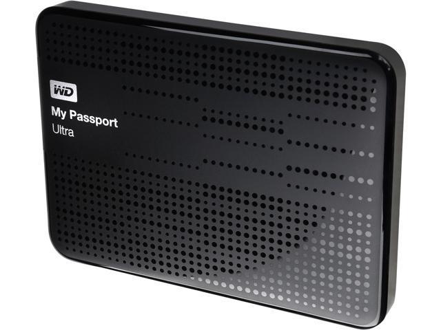 WD My Passport Ultra 1TB USB 3.0 Portable Hard Drive WDBZFP0010BBK-NESN Black
