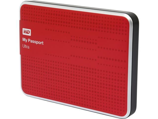 WD 1TB My Passport Ultra Portable Hard Drive USB 3.0 Model WDBZFP0010BRD-NESN Red