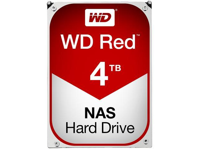 WD Red 4TB NAS Desktop Hard Disk Drive - Intellipower SATA 6Gb/s 64MB Cache 3.5 Inch - WD40EFRX