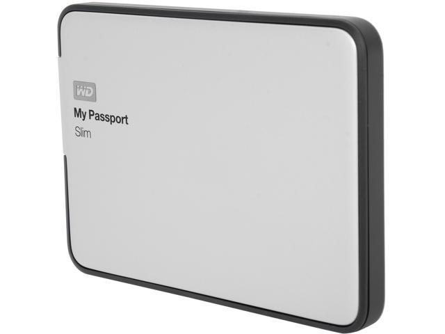 WD 1TB My Passport Slim External Hard Drive USB 3.0 Model WDBGMT0010BAL-NESN