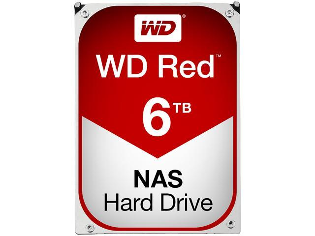 WD Red 6TB NAS Desktop Hard Disk Drive - Intellipower SATA 6 Gb/s 64MB Cache 3.5 Inch - WD60EFRX