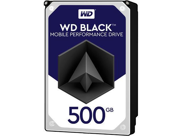 """WD Black 500GB Performance Laptop Hard Disk Drive - 7200 RPM SATA 6 Gb/s 32MB Cache 2.5"""" - WD5000LPLX"""