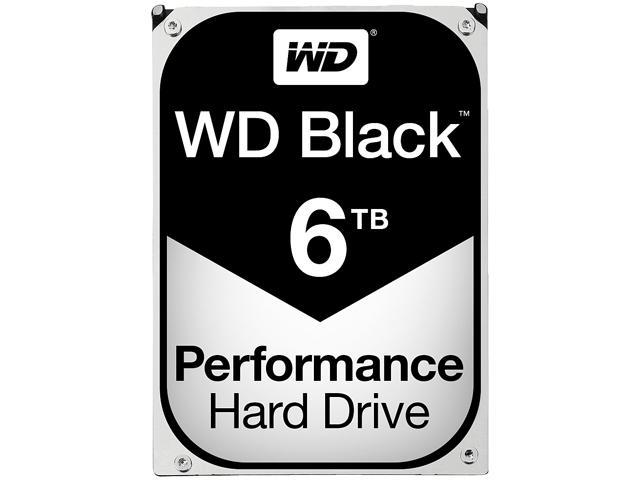 WD Black 6TB Performance Desktop Hard Disk Drive - 7200 RPM SATA 6 Gb/s 128MB Cache 3.5 Inch - WD6001FZWX