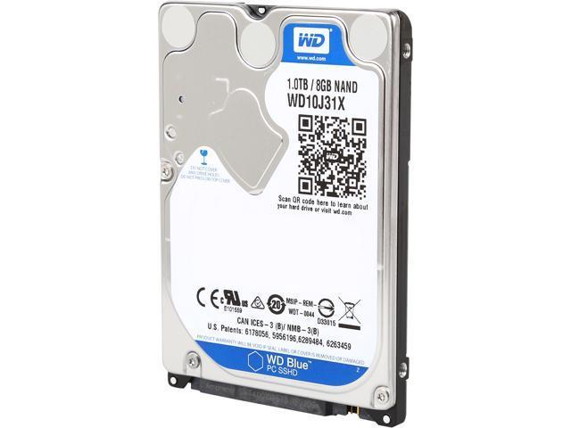 WD Blue 1TB Mobile Hard Disk Drive - 5400 RPM SATA 6 Gb/s 64MB Cache 2.5 Inch - WD10J31X