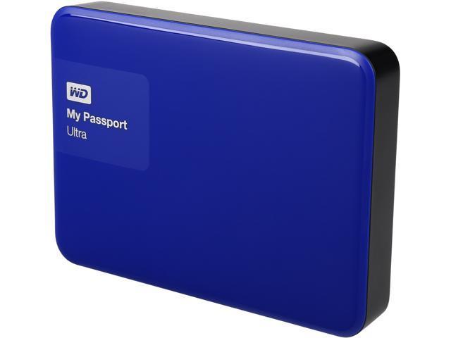 WD 3TB My Passport Ultra Portable External Hard Drive USB 3.0 Model WDBBKD0030BBL-NESN Noble Blue