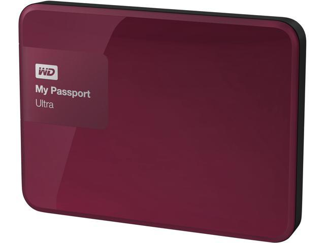 WD 3TB My Passport Ultra Portable External Hard Drive USB 3.0 Model WDBBKD0030BBY-NESN Wild Berry