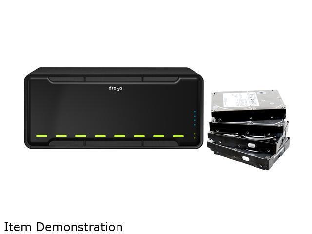 "Drobo 8TB 2 x 10/100/1000 Mbps Ethernet ports 3.5"" 8-bay Storage Array Bundle"