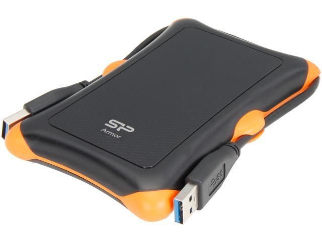 Silicon Power 500GB Armor Shockproof Portable Hard Drive USB 3.0 Model SP500GBPHDA30S3K Black