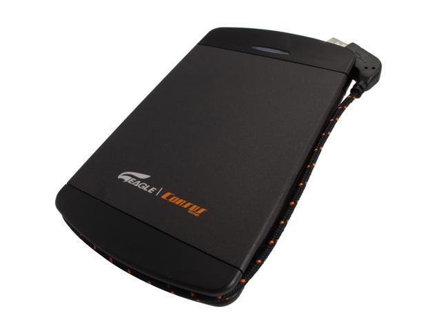 Eagle Tech 320GB USB 2.0 / eSATA Black External Hard Drive w/ built-in USB cable ET-CS2320PESU2-BK