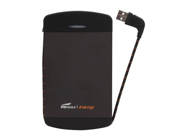 Eagle Tech 80GB USB 2.0 Black External Hard Drive w/ built-in USB cable ET-CS280PSU2-BK