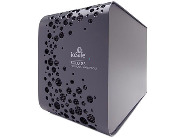 "ioSafe SOLO G3 4TB USB 3.0 3.5"" External Hard Drive Black"