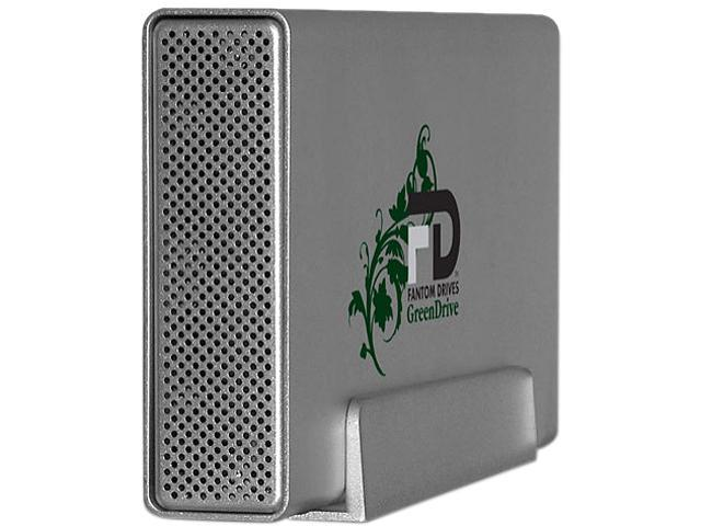 Fantom Drives GreenDrive Quad 2TB USB 2.0 / FireWire 800 / FireWire 400 / eSATA Aluminum External Hard Drive GD2000Q32