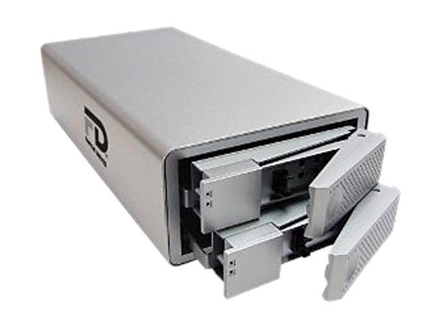 "Fantom Drives by Micronet DataDock II 6TB USB 2.0, eSATA, FireWire 800 and 400 3.5"" Desktop Quad Interface Dual Drive RAID"