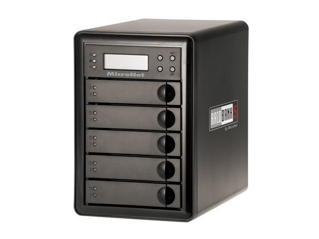 Fantom Drives by Micronet RAIDBank5 10TB Black 5-Bay RAID Array w/ Quad Interface RB5-10000
