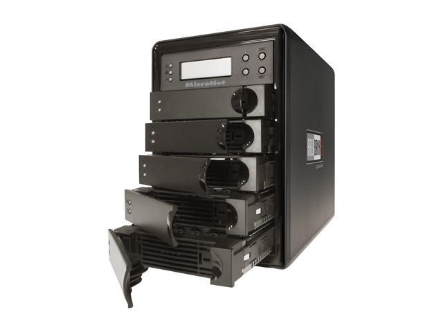 Fantom Drives by Micronet RAIDBank5 5TB eSATA / USB3.0 / 1394a / 1394b Tower Quad, Desktop Hardware RAID includes PCI-E USB 3.0 HBA RB5-5000 Black