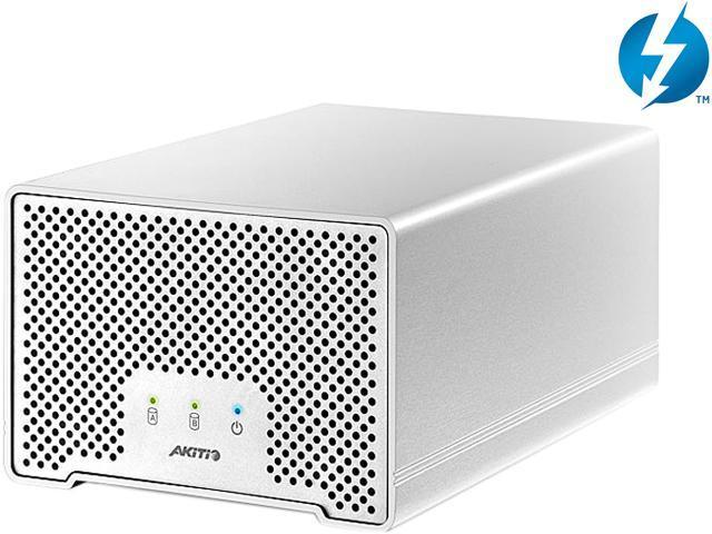 "AKiTiO Neutrino Thunder D3 2TB (2 x 1TB) 2.5"" 1x Thunderbolt 1x Mini USB 3.0 Mac Storage Model AK-NEU2-TU3IAS-AKT1UH"