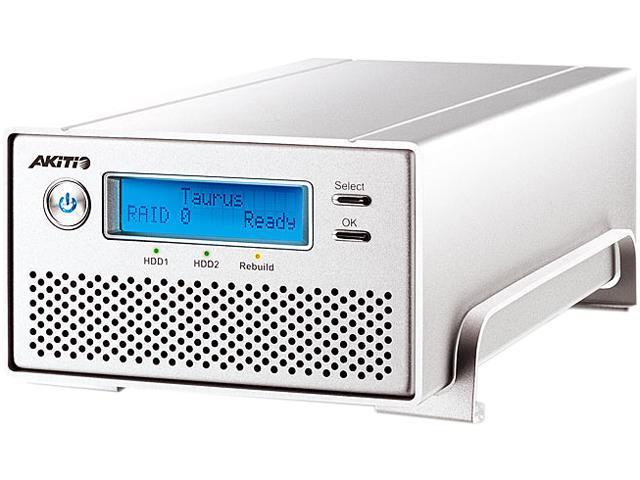 """AKiTiO Taurus Super-S3 LCM 4TB USB 3.0 / Firewire400 / 2 x Firewire800 / eSATA 3.5"""" External Hard Drive"""