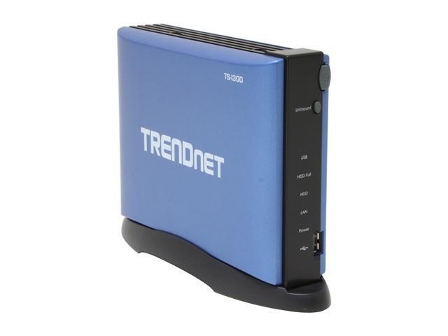 TRENDnet TS-I300 Diskless System USB 2.0 IDE Network Storage Enclosure 1 x 10/100Mbps RJ-45Port 2 x USB 2.0 Type A port 1 x Internal IDE HD Bay (HD not included) RDC 3210 (150Mhz) Processor
