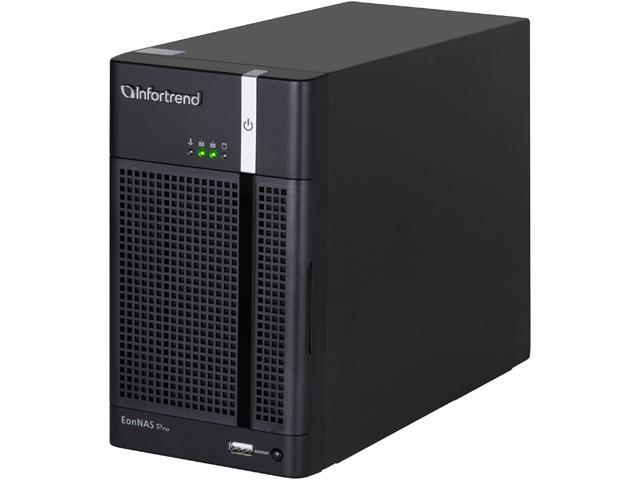 Infortrend ENP210MB-0032 EonNAS Pro 210 2-Bay Tower NAS solutions for SMBs and SOHO users