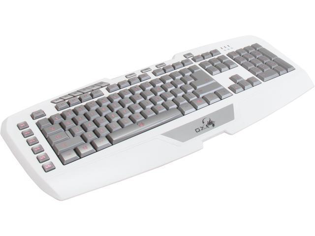 Genius 31310062101 Imperator Pro White Edition Keyboard