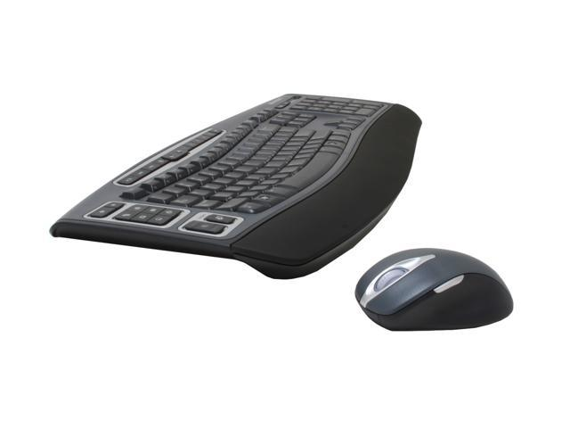 Microsoft 69M-00006S Gray&Black 104 Normal Keys 24 Function Keys USB RF Wireless Standard Keyboard & Mouse - OEM