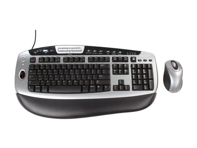 Microsoft BZ5-00002 2-Tone 105 Normal Keys 22 Function Keys USB Wired Standard Desktop with Fingerprint Reader Mouse Included