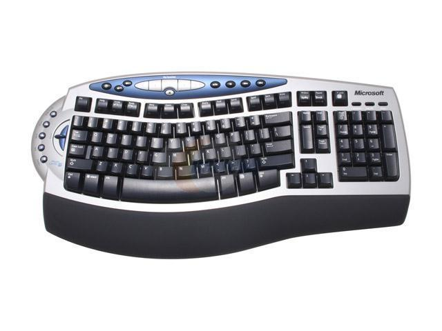 Microsoft B2H-00002 2-Tone 102 Normal Keys 18 Function Keys RF Wireless Ergonomic Keyboard