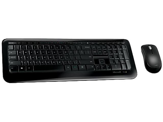 Microsoft Desktop 850 PY9-00001 Black RF Wireless Standard Keyboard & Mouse