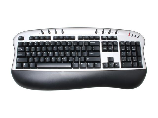 BTC 5213URF Silver & Black 104 Normal Keys 8 Function Keys RF Wireless Standard Inter-Media Wireless Keyboard & Mouse Kit