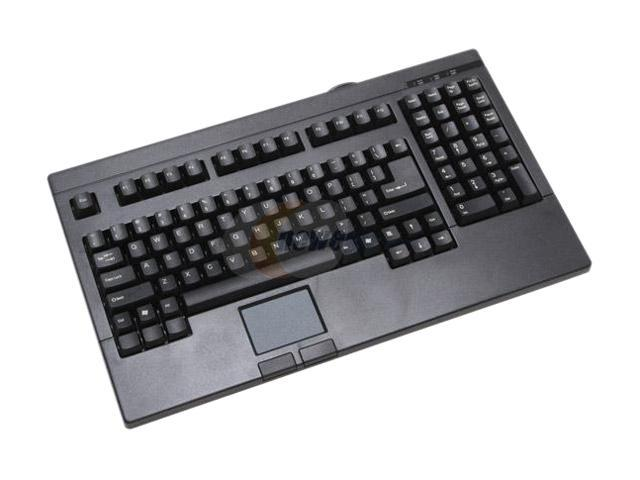 SolidTek KB-730BU Black USB fullsize Keyboard with Touchpad built in as mouse, ACK-730 Touch pad with scroll function